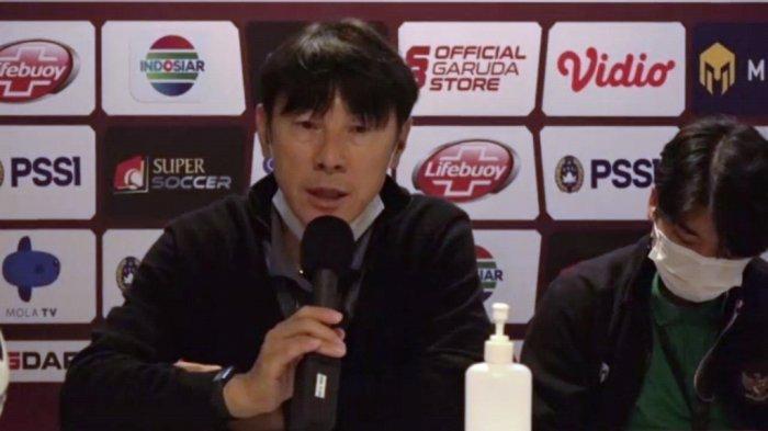 Shin Tae-yong bilang Pemain Timnas Indonesia Masih Ada yang Gugup Saat Ladeni Persikabo 1973